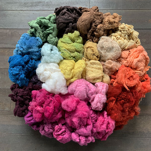 natural dyed  silk